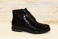 Ботинки женские черные лаковые Д524 р 39 40 41