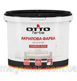 Otto Farbe Краска акриловая Снежно-белая 4.2 кг