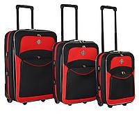 Набор чемоданов Bonro Best черно-красный
