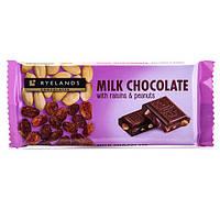 Шоколад с изюмом и арахисом Ryelands Raisins & Peanuts