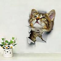 """Украшения стены наклейки на туалет """"котик"""" лист 16*24см"""