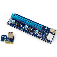 Riser Райзер 006с PCI-E 1X to 16X - 6pin