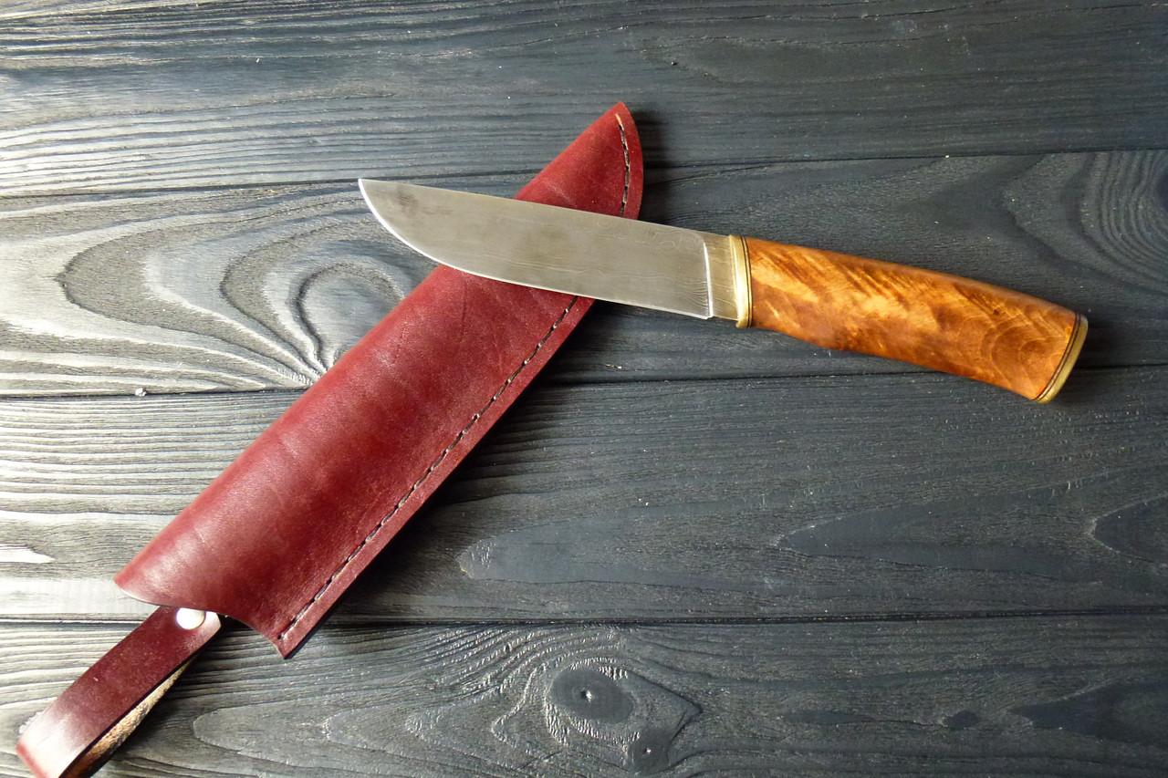 Нож охотничий дамаск  свиточ