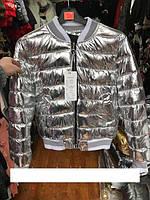 Куртка женская демисезон серебро р.2XL