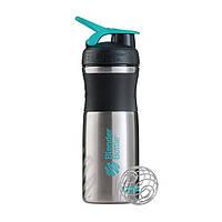 Blender Bottle, Спортивный шейкер BlenderBottle SportMixer Stainless Steel Teal, 760 мл