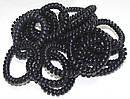 Резинка пружинка силикон  широкая черная d 5,5 см 100 шт/уп, фото 4