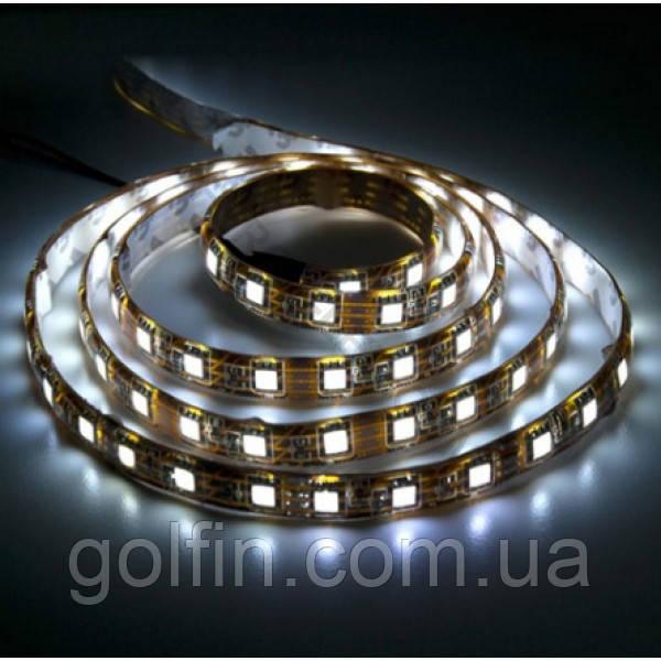 Светодиодная лента 5050 60LED IP65 БЛИСТЕР (белый теплый)  1м