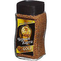 Кофе Чёрная карта Голд (Gold) растворимый 95г стеклянная банка