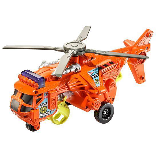 П,  Свет и  Звук!  Большой  Спасательный Вертолет Matchbox Power shift Crane Copter