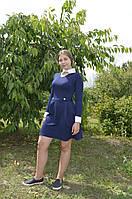 Платье синее  RB-3116