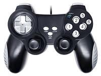 Геймпад SVEN X-PAD, USB, 4 оси, 12 кнопок, резиновые вставки, виброотдача, функция Turbo