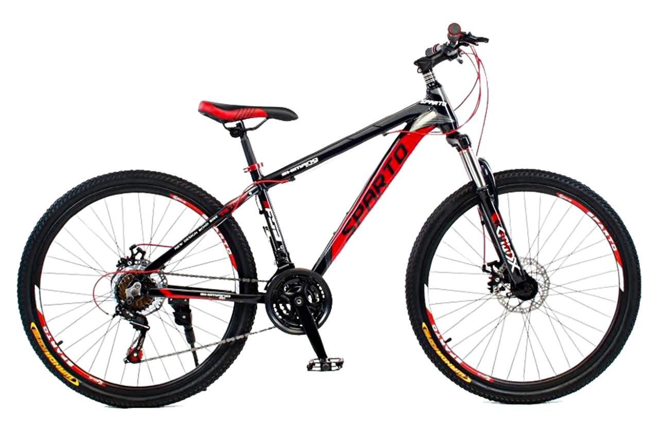 """Горный велосипед SPARTO TS 7626  26"""", 15"""", 17"""", 19""""Черный / Красный"""