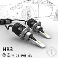 LED Свет в фары HB3 чип Seoul, комплект ламп (2 шт) в фары головного света или противотуманные фары 7200 люмен