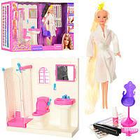 Игровой набор 2 в 1, Мебельдля куклыВанная комната и Кукла для покраски волос - набор парикмахер, 68027