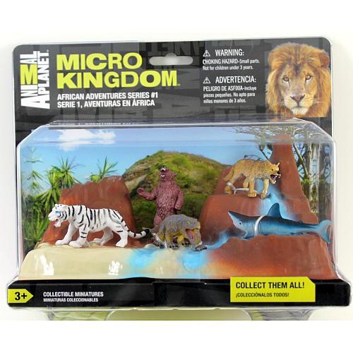 П, Фігурки тварин Animal Planet Micro Kingdom Африканські пригоди