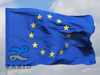 Прапор Євросоюзу з вишитими зірками з габардину