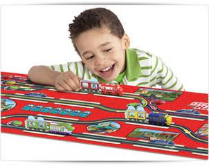 П   Большой  Игровой коврик с паровозиками Chuggington  США,