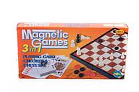 "Игра магнит. ""Шашки-шахматы-нарды"" 3 в1 (коробка) р.24,5*12,5*3,5 см ()"