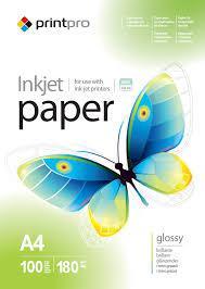 Фотобумага PrintPro PG180-100 (PGE180100A4)