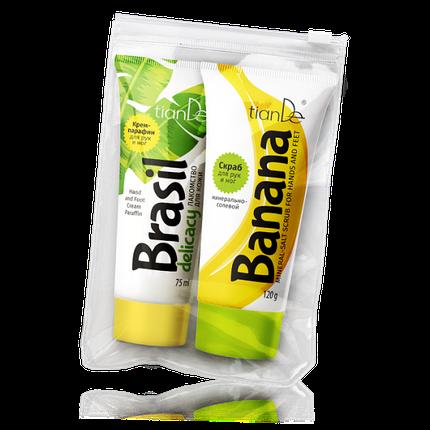 Набор для парафинотерапии «Бразильский банан», 120г+75мл, фото 2