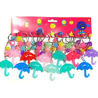 Брелок пластик(зонтик с кубиками)