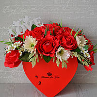 """Букет из конфет в коробке """"Влюбленное сердце"""""""