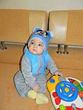 Красивая весенняя детская шапка с двумя помпонами, фото 9