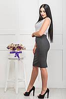 Стильная женская юбка-карандаш ZANNA BREND 7502 мелкий ромб