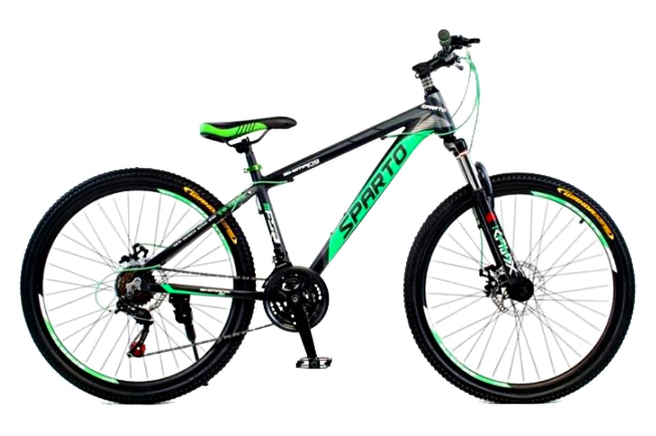 """Горный велосипед SPARTO TS 7626  26"""", 15"""", 17"""", 19"""" Черный / Зеленый"""