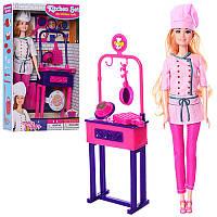 Кукла типа барби повар29 см с аксессуарами, кухня, JX100-84