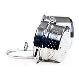 Кастрюля для варки макарон Fissman Gabriela 4,5 л. (Нержавеющая сталь, стеклянная крышка), фото 3