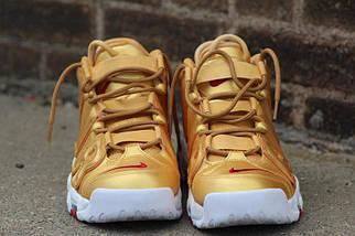 Женские кроссовки Nike Air More Uptempo Metallic Gold White, фото 3
