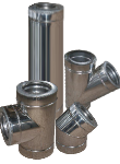 Трубы для дымоходов d=150/220 мм 1 мм в оцинкованном кожухе