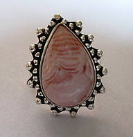 Хорошенькое кольцо с родохрозитом , размер 18 от студии LadyStyle.Biz, фото 1
