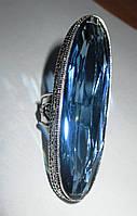 """Шикарное огромное  кольцо с синим кварцем, """"Овал"""", размер 19  от студии  LadyStyle.Biz, фото 1"""