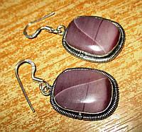 Элегантные серебряные серьги  с  мукаитовой яшмой и  от студии LadyStyle.Biz, фото 1