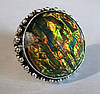 """Потрясающий перстень  с дихроидным стеклом """"Крыло бабочки"""", размер 19,6 от студии LadyStyle.Biz"""