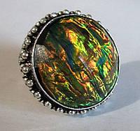 """Потрясающий перстень  с дихроидным стеклом """"Крыло бабочки"""", размер 19,6 от студии LadyStyle.Biz, фото 1"""