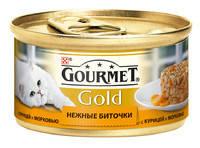 Gourmet Gold (Гурмет Голд) - Нежные биточки  с курицей и морковью для котов 85 гр