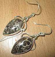 """Серебряные серьги с турителлой  """"Бутон""""  от студии LadyStyle.Biz, фото 1"""