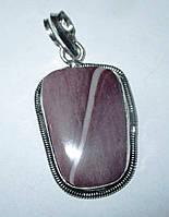 Элегантный серебряный кулон  с   мукаитовой  яшмой   от студии LadyStyle.Biz, фото 1