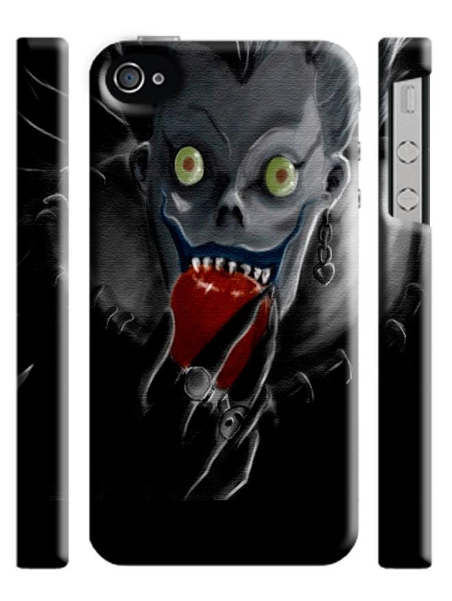 Чехол на на любую модель телефона Тетрадь смерти Рюк с яблоком