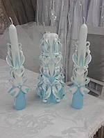 """Свадебные свечи резные ручной работы, набор для свадебного обряда """"Семейный очаг"""", Запорожье"""