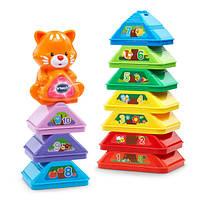 VTech Музыкальная развивающая игрушка Пирамидка, пасочки, кубики c котиком Nest and Build Tree Stacker