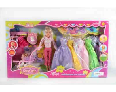 Кукла DEFA в коляске с набором (в коробке)