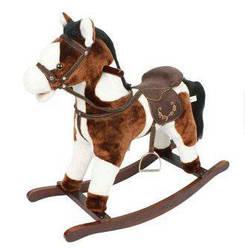 Игрушечный конь - качалка с музыкой JR614