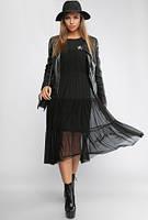 Платье Star 3093, нарядное длинное платье, чёрное платье сетка, дропшиппинг