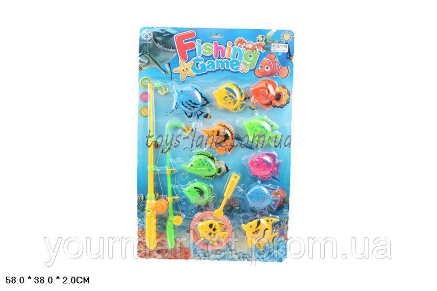 Рыбалка 325-10 (72шт/2) 2 магнит.удочки, 11 морских животных,на планше