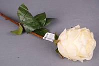 """Цветок искусственный """"белая роза"""" длина=54 см."""