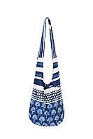 Красивая итальянская пляжная сумка David DB8-021 One Size Синий